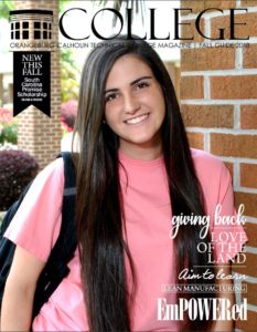cover with a female OCtech student