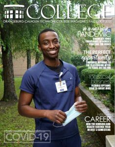 Cover with OCtech black male nursing student