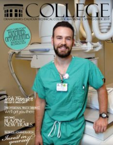 cover with white male health science student