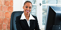 paralegal dressed in a business suit